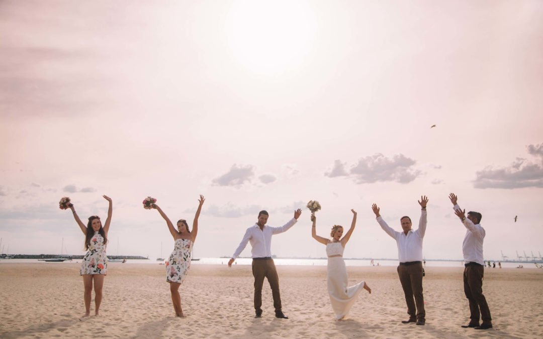 Alex & Josh's beach wedding
