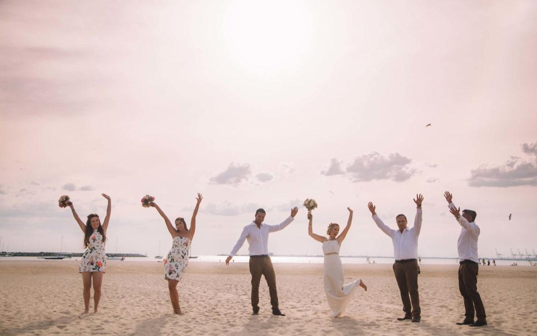 Alex & Josh's beach wedding