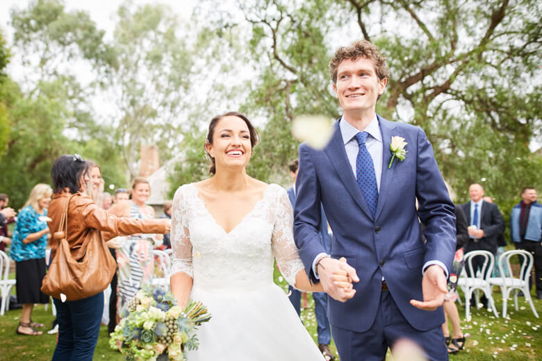 Mel & Brenton's wedding at Emu Bottom Homestead