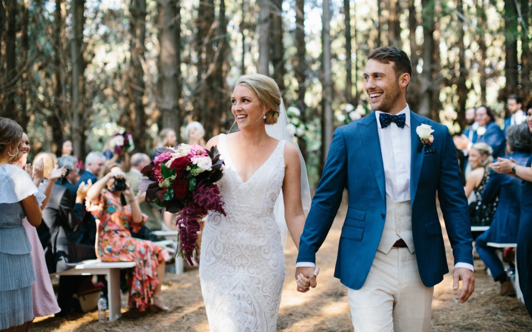 A ceremony in a hidden forest and a party under a TeePee – what a way to get married.
