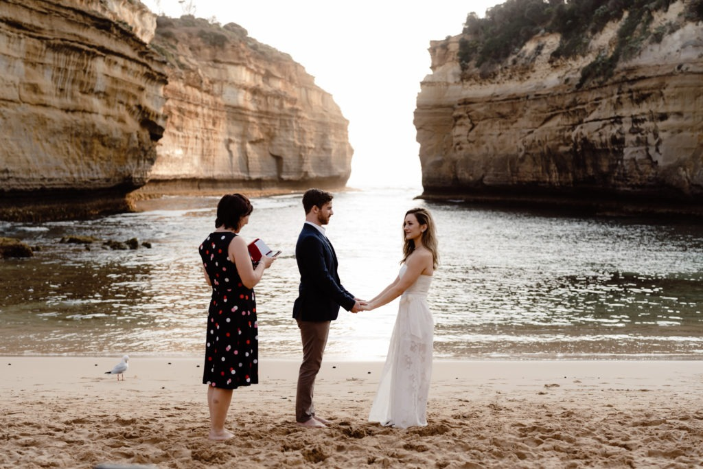 Intimate elopement Ceremony on Great Ocean Road