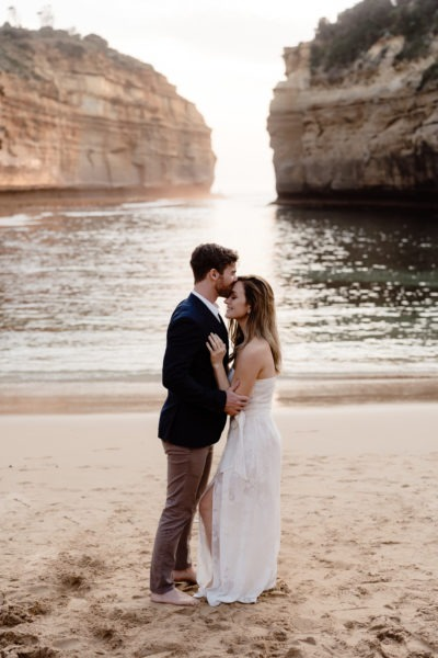 Loch Ard Gorge on Great Ocean Road wedding
