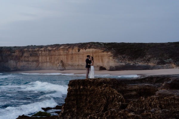 Couple marry on Great Ocean Road Cliff Top