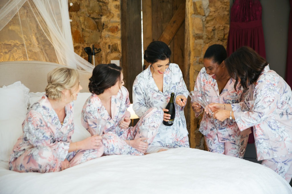 Bridal party getting ready on bendigo wedding day
