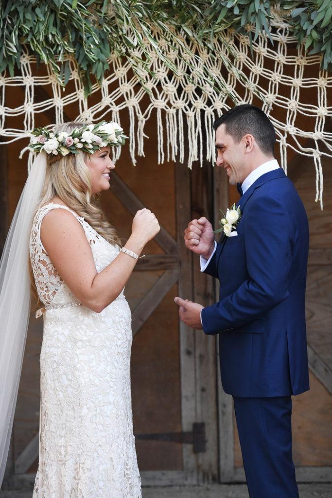Wedding ceremony at the Farm