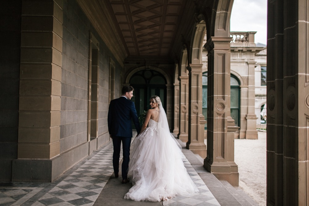 Wedding couple at Werrribee Mansion