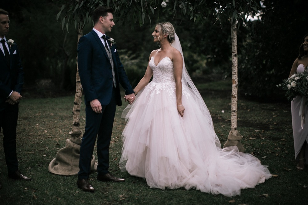 Garden wedding at Werribee Mansion