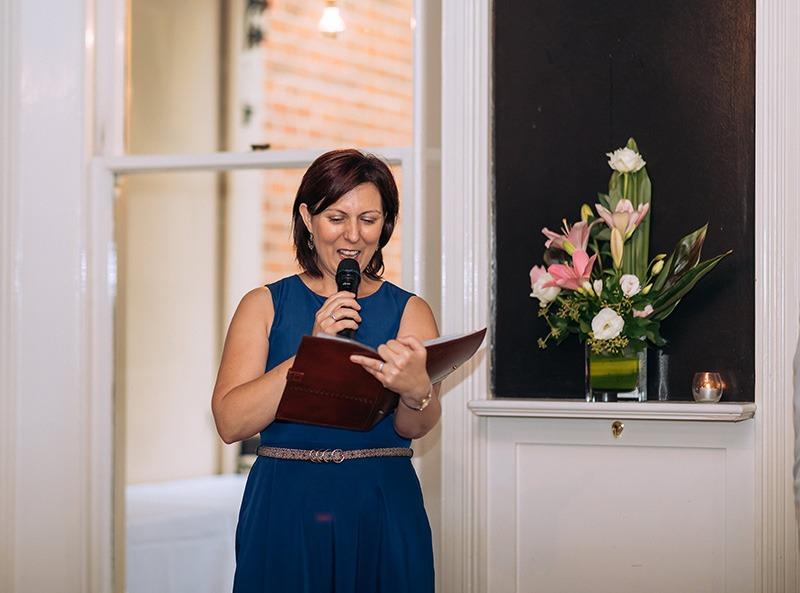 Celebrant at wedding at Epocha