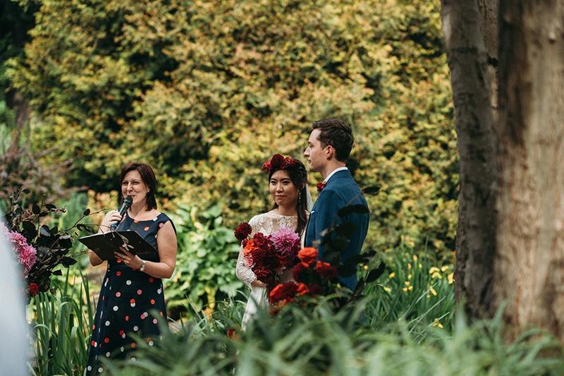 Wedding ceremony fitzroy Gardens