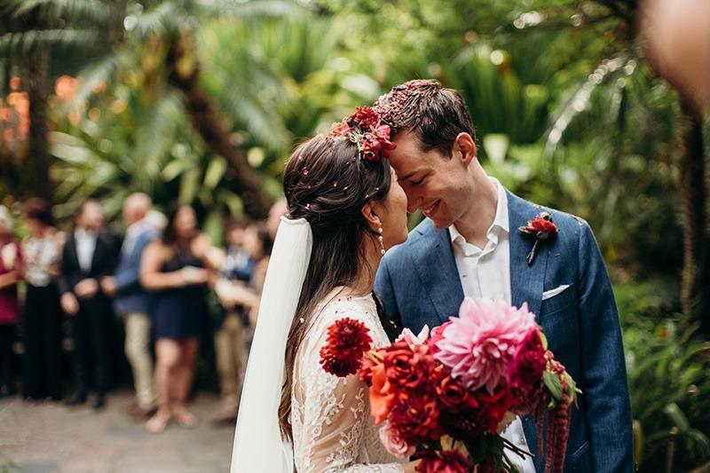Colourful couple fitzroy Gardens