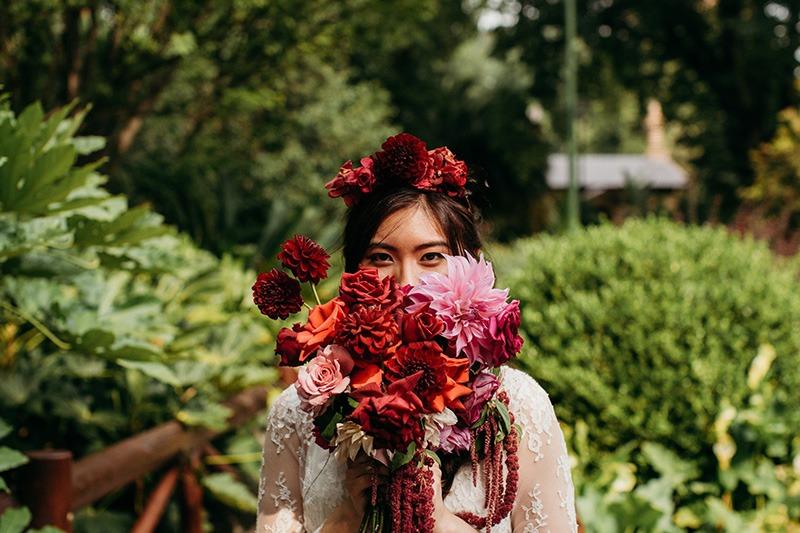 Colourful bride fitzroy Gardens
