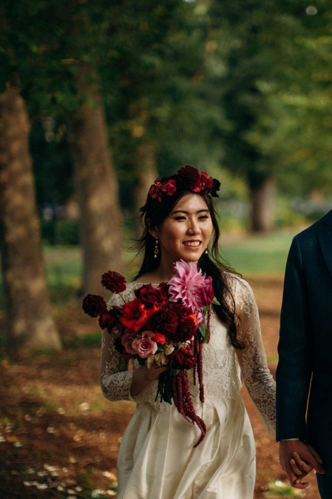 Bride in Fitzroy Gardens