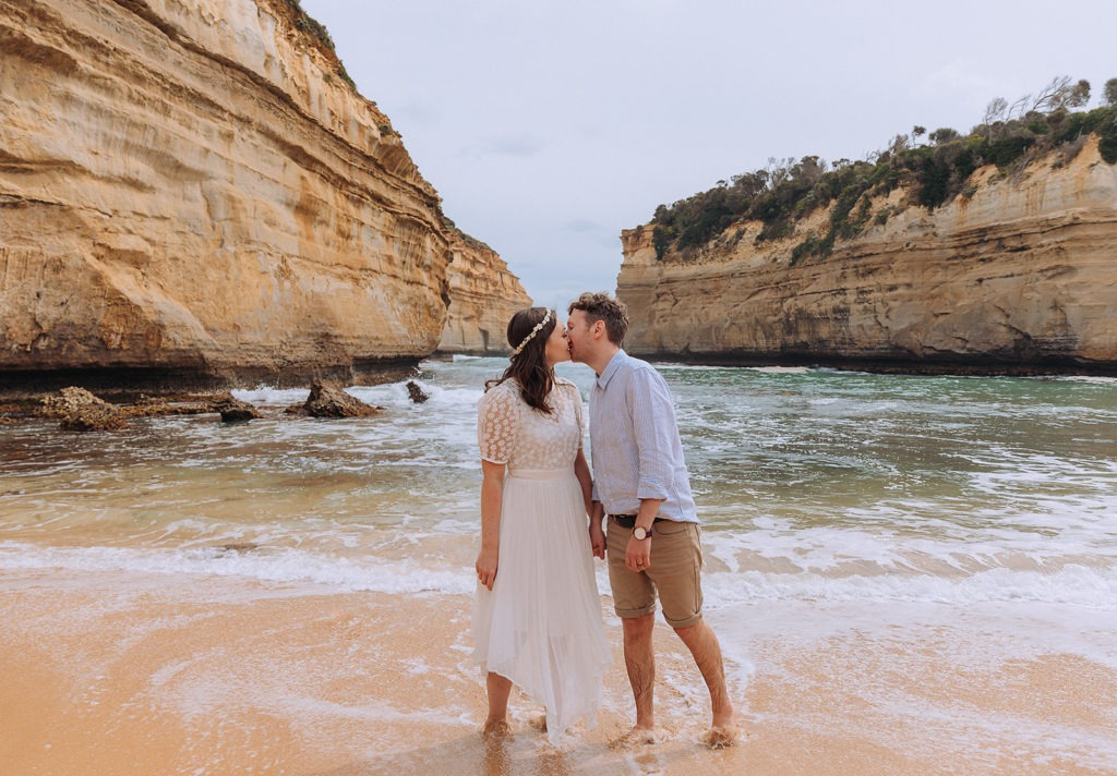 Couple getting married at Loch Ard Gorge