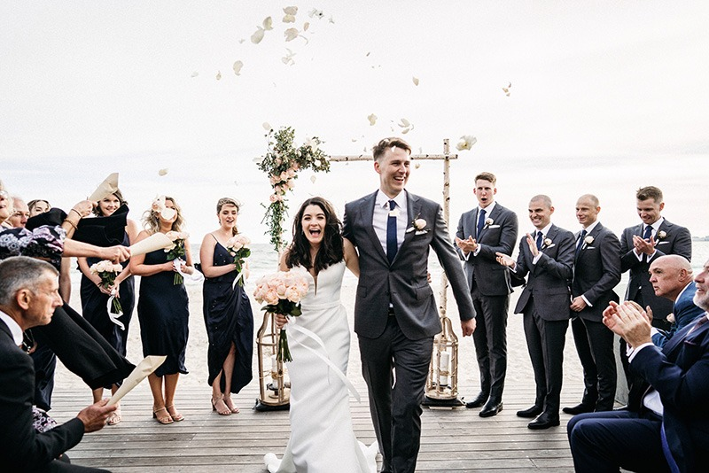 Sandbar Beach Cafe wedding