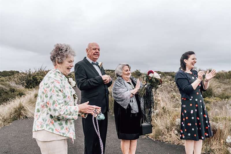 Guests celebrate at wedding