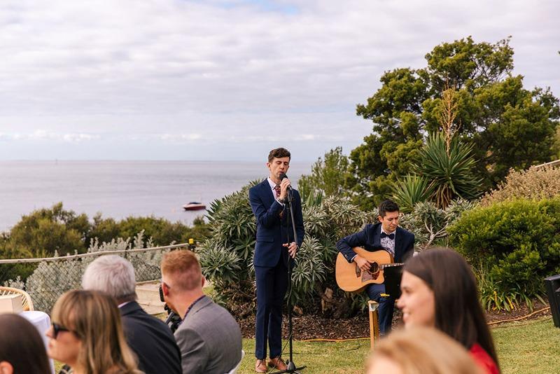 Singer at Portsea Hotel Wedding