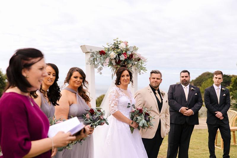 Wedding party at Portsea Hotel wedding