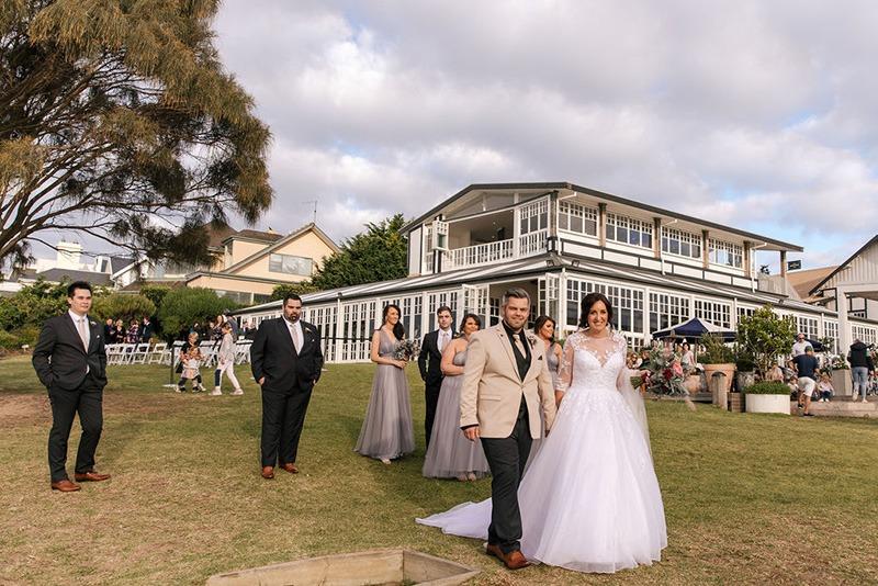 Portsea Hotel on couples wedding day