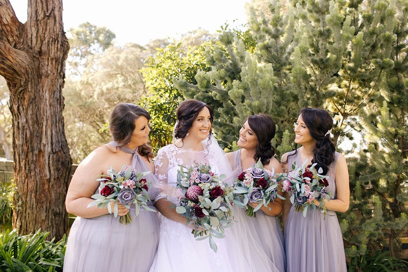 Bride & Bridesmaid at Peninsula wedding