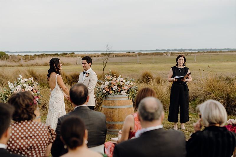 Couple getting married at Bellarine Peninsula wedding