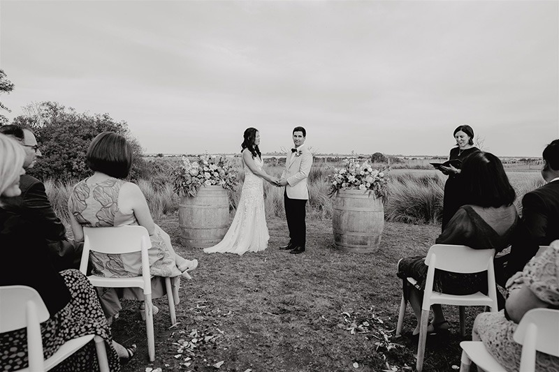 Ceremony at Bellarine Peninsula Wedding