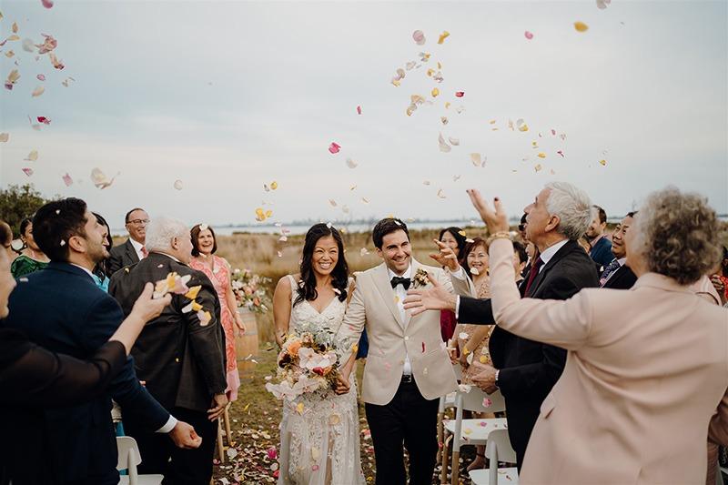 Couple at their Bellarine Peninsula Wedding