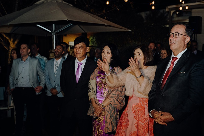 guests Reaction to speeches on wedding day