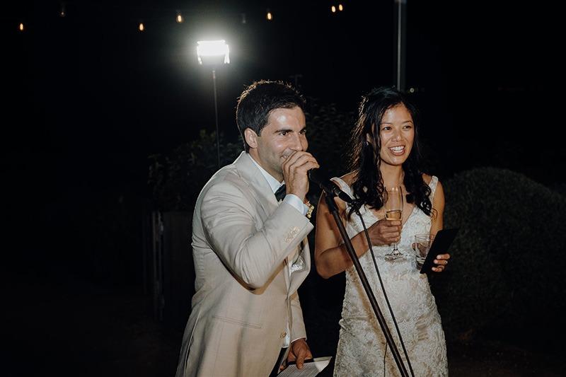 Wedding day speeches at Bellarine Peninsula wedding